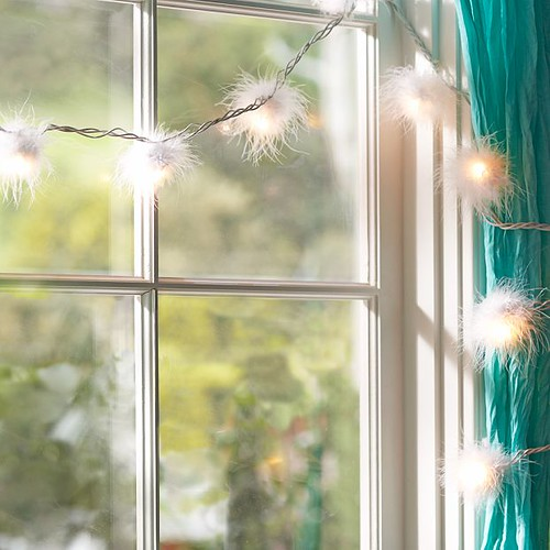 Furry lights from Pottery Barn Teen