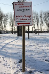 Attention driver! (diwan) Tags: city schnee snow nature sign canon germany landscape geotagged deutschland eos place natur magdeburg stadt 2010 fotogruppe saxonyanhalt sachsenanhalt hinweisschild winterly canoneos450d winterilich geo:lon=11667263 geo:lat=52099179 fotogruppemagdeburg
