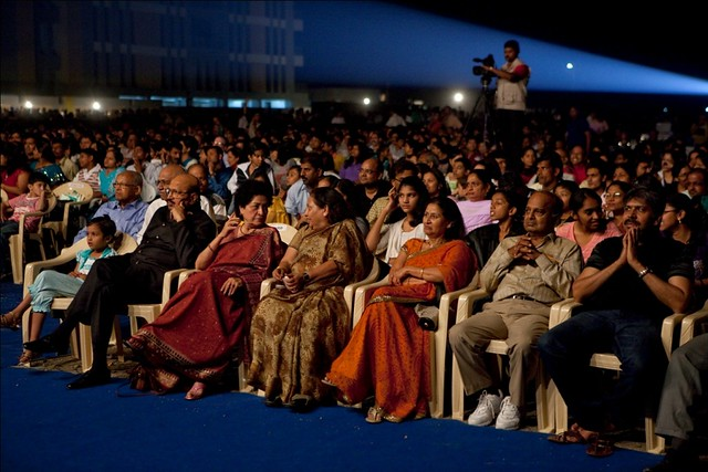 Mrs. Lila Poonawalla & Mrs. Rajlaxmi Bhosale(in the front row) at the Magarpatta City Foundation Day