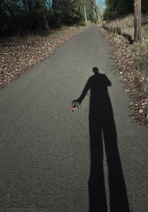along the way i stopped to pick up a leaf...but found i couldn't (natedregerphoto) Tags: shadow silhouette self vanishingpoint leaf birmingham nikon hand fingers alabama f11 pathway lightroom iso320 18mm favorited d90 27mm35mmequiv vulcantrail