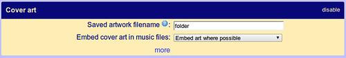 Folder cover art settings in Windows