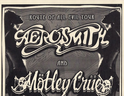 12/07/06 Aerosmith/Motley Crue @ Minneapolis, MN (Ad - Top)