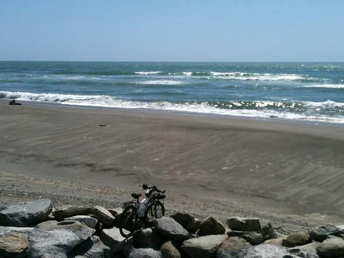 ホキティカのビーチ