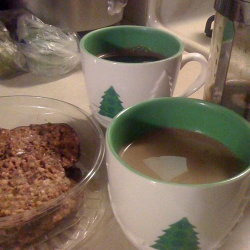 Two Cups of Coffee and Cookies