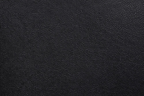 Close-up of black fake leather texture