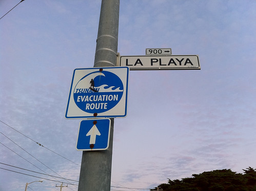 Tsunami Evacuation Route, San Francisco