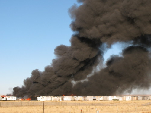 Salvage yard fire