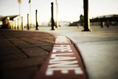 Fire......... (Michael Brooking Photography) Tags: brick station zeiss train 35mm fire nikon paint dof bokeh pole lane carl worm pavers distagon d700 michaelbrookingphotography