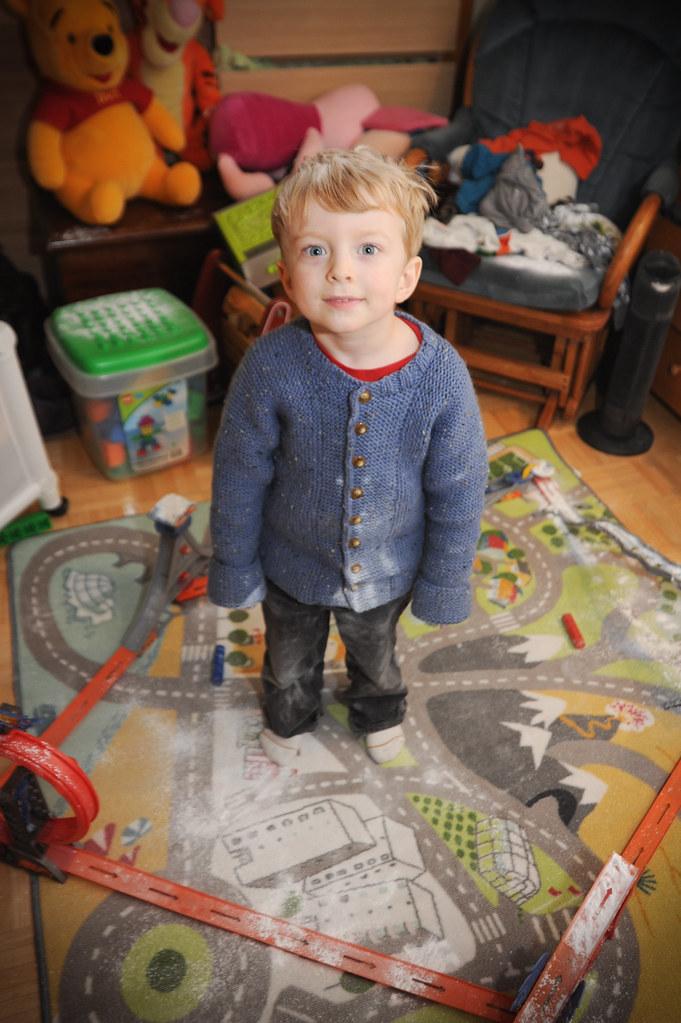 """Liam, the """"snowmaker""""!"""