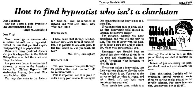 Witch Watch: How to find a hypnotist who isn't a charlatan