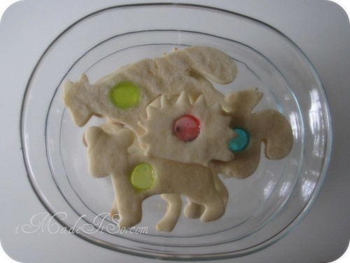 stained glass animal sugar cookies