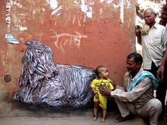 C215 - New Delhi (2008) (C215) Tags: streetart art french graffiti stencil christian pochoir masacara szablon c215 schablon gumy piantillas