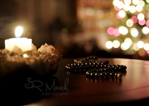 Set up for prayer beads picture
