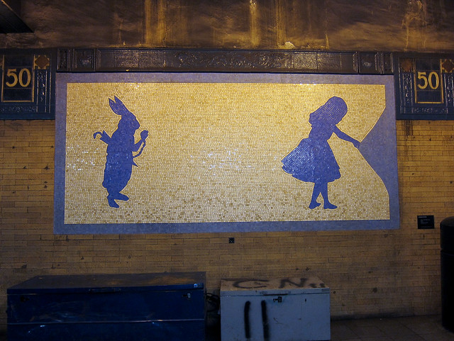 Alice In Wonderland Subway Tile Art