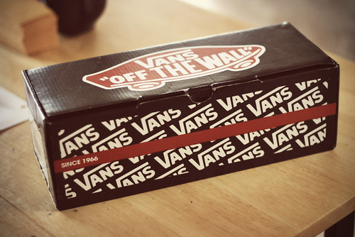 vans shoes box