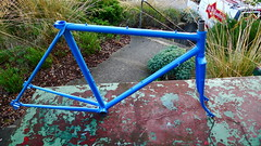 (Bombardier) Tags: blue lauren classic bike sparkles pretty handmade handsome homemade frame framebuilding lugs functionalart sporttouring