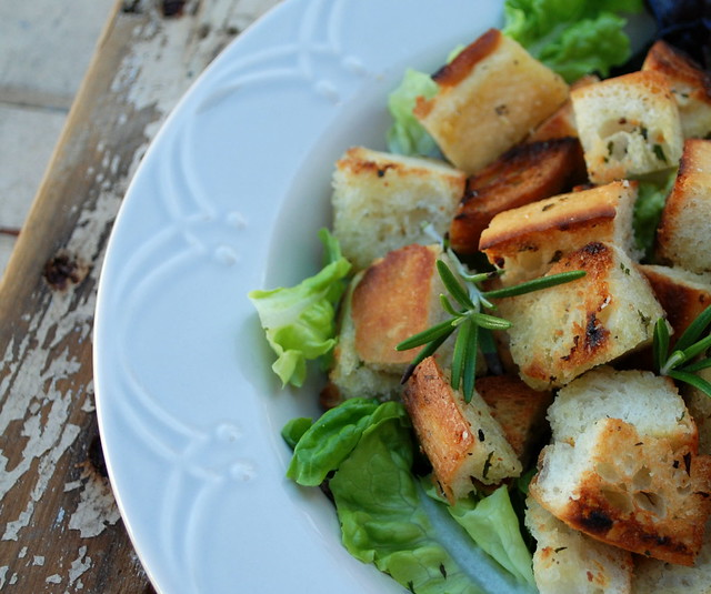 Home made croutons 2