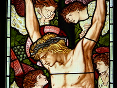 Crucifixion detail (robin_birdie) Tags: burnejones troutbeck burnejoneswindows