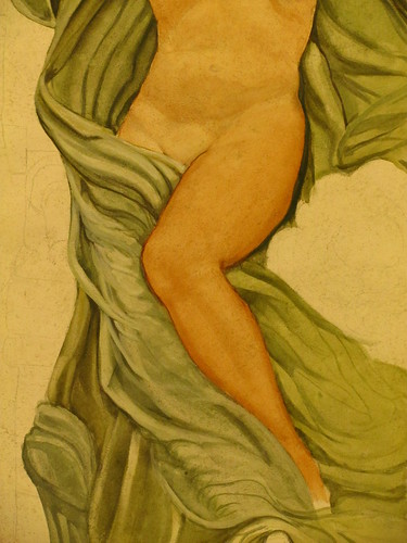 Painting the leg and fabric