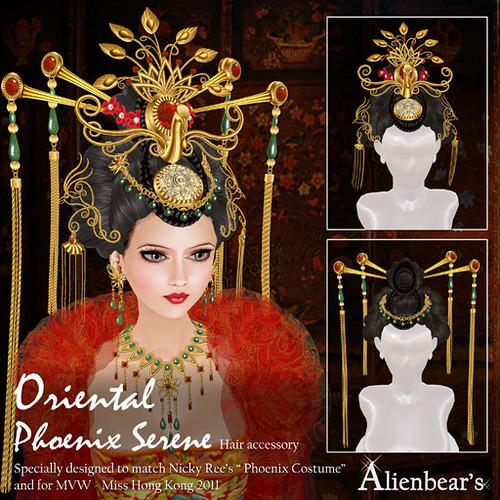 Phoenix Serene hair accessory red