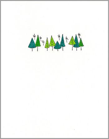 xmas card: trees
