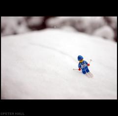 Downhill (peterphotographic) Tags: uk blue england snow ski london nikon lego britain downhill d200 e17 walthamstow eastlondon sigma30mm
