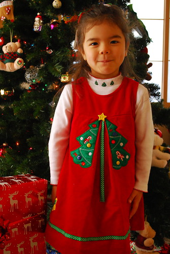 sasha's christmas dress