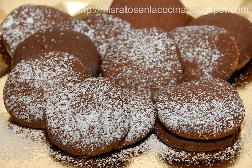 Polvorones (versión chocolate)