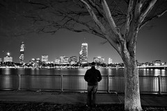 Stranger (bijoyKetan) Tags: longexposure bw boston night charles canon1585mmisusm