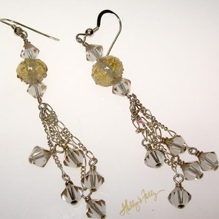 Rhubarb earrings by HollysFolly