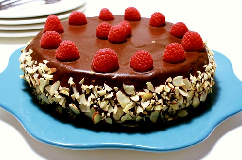 Gluten-Free Chocolate Raspberry Torte