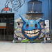 Eyebeam facade - Re:Group signage / Jeff Soto graffiti #1