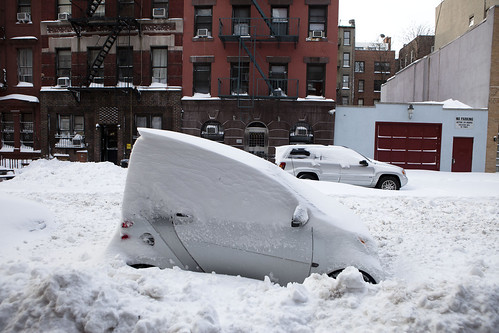 Nice car: The morning after New York's big blizzard