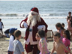 Santa on Beach in Paradise Village Dec