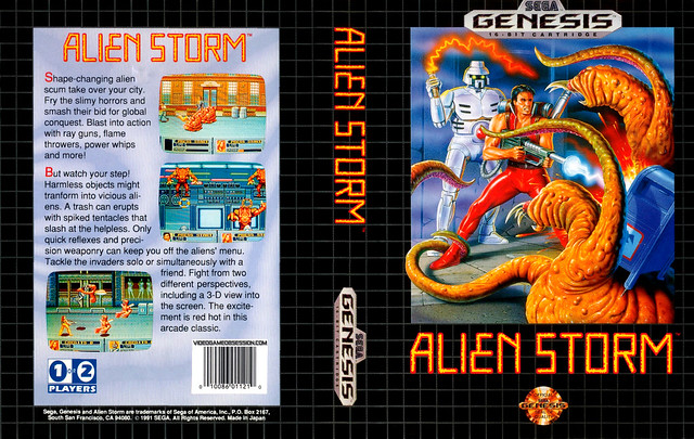 Sega Genesis -AlienStorm
