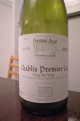 """2008 Domaine Hervé Azo, Chablis 1er Cru, """"Vau de Vey"""""""