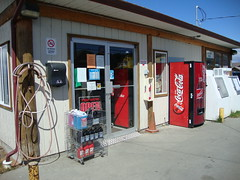 Gas Station, Sointula, Malcolm Island, B.C. (orbora78) Tags: ice britishcolumbia air gasstation oil sointula malcolmisland cocacoladispenser engineadditives