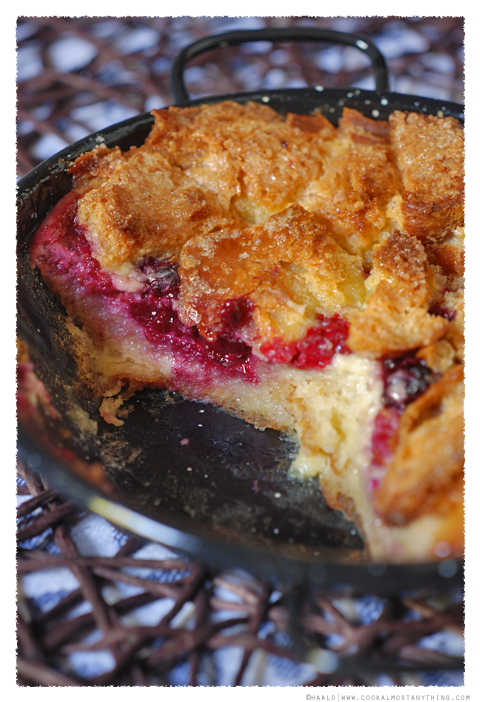 brioche and berry pudding© by Haalo