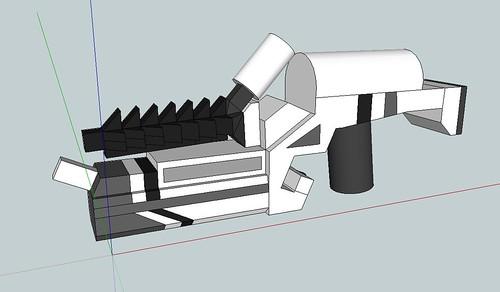 Custom minifig District 9 custom minifig Prawn Lightning Gun