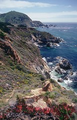 Big Sur, CA / Kodachrome / (lenkolaf) Tags: ocean california usa film water america us nikon unitedstates pacific kodak bigsur slide 64 kodachrome fm2 kodachromekodak