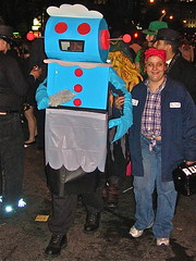 A Tale Of Two Rosies (Wires In The Walls) Tags: nyc costumes halloween manhattan rosietheriveter 2007 thejetsons rosietherobot couplesposing