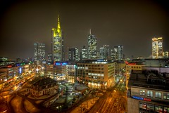 Frankfurt am Main (Batram) Tags: city skyline night skyscraper germany am frankfurt main galeria hdr kaufhof mainhatten commerzbank hauptwache wolkenkratzer