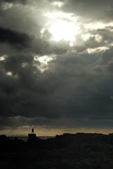 man VS sky [226/365] ( Filippo Manzi ) Tags: blue light sunset sea summer sky sun man water clouds river dark grey reflex rocks waves sony shapes uomo cielo tuscany alpha mystic day226 castiglioncello sonyalphaitalia 14082010 aug142010