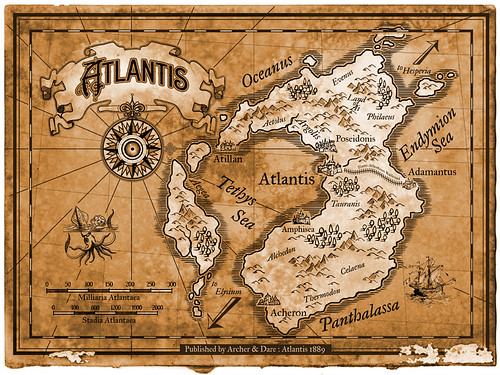 Map of Atlantis Print