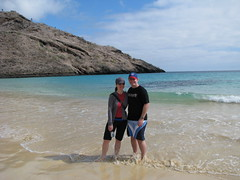 Meg and Dave, Punto Cormorant - Floreana Island