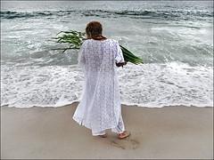 (ccarriconde) Tags: flores praia brasil riodejaneiro mar ccarriconde cristinacarriconde copacabana f orao palmas umbanda yemanja oferenda brasilpeople copyrightcristinacarricondeallrightsreserved cristinacarriconde