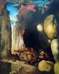 Salvador Dalí, Metamorphosis of Narcissus with detail of canyon at left