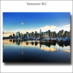 Vancouver downtown viewed from Stanley Park (ZedZap Photos) Tags: ocean city travel sea vacation holiday canada reflection tourism vancouver landscape boats bc pacific yacht canadian vancouverisland pacificnorthwest canadaplace hdr victoriabc nationalgeographic coalharbor zedzap