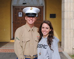 Me and My Marine  (jmrpixie) Tags: california camp cute love boyfriend smiling loving usmc proud standing happy boot other holding hug marine kiss san girlfriend couple december 10 united graduation adorable diego cover corps always marines forever states 2010 smilies pfc significant