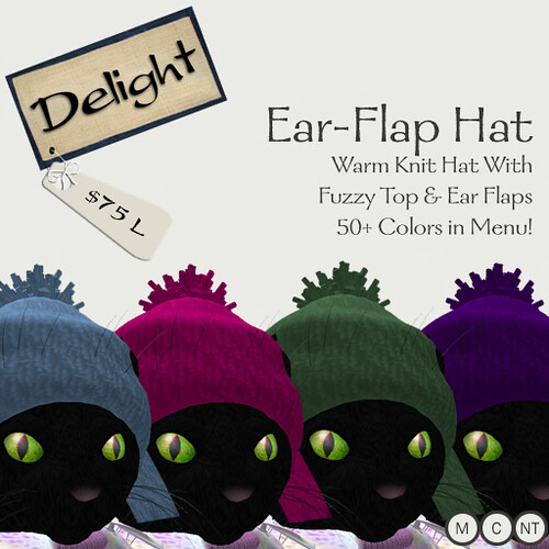~Delight~ Ear-Flap Hat (Color-Change)